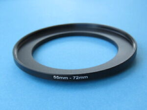 55mm to 72mm Step Up Step-Up Ring Camera Filter Adapter Ring 55mm-72mm