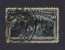 US #240 Used 50c Columbian - Red & 3rd Class Cancels - XF ++
