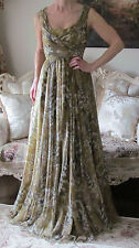 DOLCE&GABBANA Chiffon,Lily of the Valley Gown,Sicily Dress It 38,US 0-4,XS-S