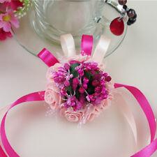 Wedding Party Wrist Pearl Corsage Bracelet Bridal Bridesmaid Hand Wrist Flower A