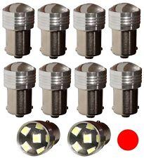 10x Ampoules 24V P21W R10W R5W 6LED SMD rouge pour camion semi-remorque portail