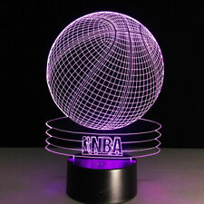 NBA Basketball 3D LED Touch Table Desk Lamp Night Light  Brithday Gifts 7 Color