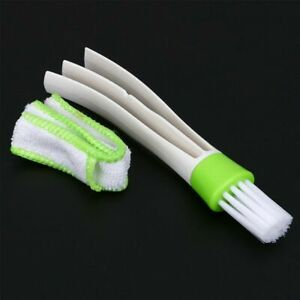 Keyboard Duster Car Cleaning Brus Vent Air-Condition Blind Cleaner  Double Heads