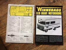 Winnebago D18 Brave Motorhome brochure 1972