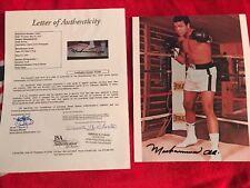THE GREATEST Muhammad Ali Autographed 8x10 Photo Full JSA Letter X71250