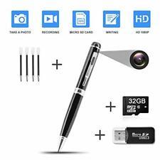 Hidden Pen Camera Spy Pen Camera HD 1080P Clip On Body Camera Mini Camera Pen 32