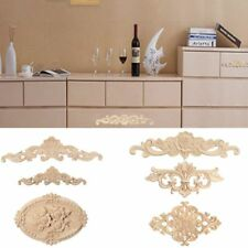 1/2 Pcs Decoration Floral Wood Carved Decal Appliques Frame Wooden Figurines