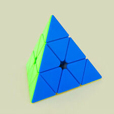 Brain Teaser Puzzle Pyraminx Stickerless Pyramid Speed Cube Enthusiasts Colorful