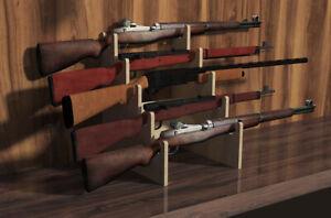 Rifle Rack 5-Slot Gun Shotgun Sword Display Stand CNC Table Top Gunrack USA