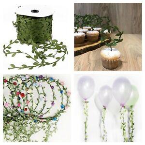 10M Silk Artificial Leaf Leaves Vine Wedding Decor Scrapbook Wreath Fake Flowers
