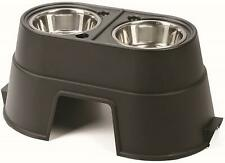 Dogs Bowl Metal Feeding Elevated Station Double Pet Food Pet Stand Large