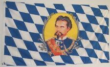 FAHNE FLAGGE 0038 KÖNIG LUDWIG 1845 -1886 FREISTAAT BAYERN STADT SAMMLER NEU
