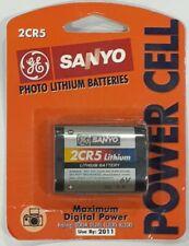 Vintage GE / SANYO 2CR5 Photo Lithium Battery Sanyo 2cr5 Battery N.O.S!