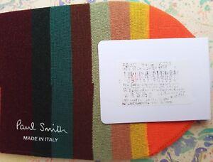 Paul Smith Mens Italian No Show Loafer Socks Artist Stripe Signature K223 Cotton