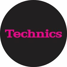 Technics 60652 PAIR Slipmat Simple T3 Pink on Black Original / Brand New