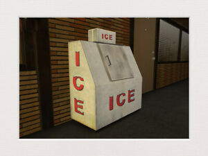 NEW (2) RETAIL ICE BOX ~ ICE COOLER MACHINE - S Scale 1:64 - 40cu LEER or POLAR
