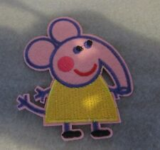 Pepper Pig  Emily Elephant on/sew on patch/ Applique Patch 9.5cm x 7cm approx