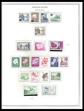 NORFOLK ISLAND 1956-65 ISSUES ON 2 ON PAGES (LHM/UHM) *CLEAN & FRESH!*