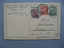 GERMANY INFLATION, uprated prestamped PC (card) 29-03-1922, total 0,75