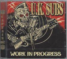 U.K. SUBS - WORK IN PROGRESS CD - (still sealed cd) - AHOY CD 310