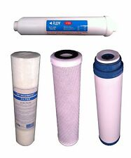 "10"" REVERSE OSMOSIS WATER FILTERS YEARLY SET 4 FILTERS"