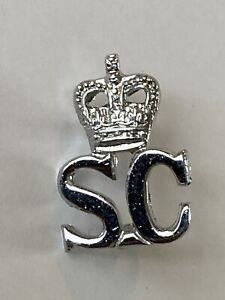 Britsh Police - Special Constable (SC) Epaulette Badge - Queens Crown (QC)