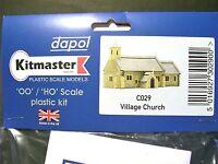 C029 DAPOL VILLAGE CHURCH, UNPAINTED PLASTIC CONSTRUCTION KIT,  00 MODEL RAILWAY