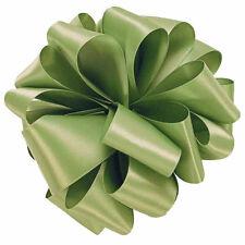 "5 Yds Double Face Moss Green Satin Ribbon 2 1/4"" W"