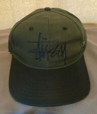 Vintage 90's Old Skool Stussy Snapback Cap / Hat Near Mint Condition