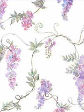 Wisteria and Vines on White Background Wallpaper per Double Roll - BC70102