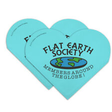 Flat Earth Society Members Around Globe Heart Faux Leather Bookmark Set