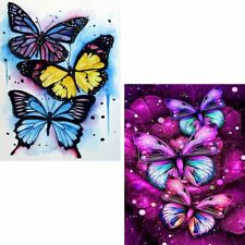 Skryuie 2 Pack 5D Diamond Painting Oil Colorful Butterfly Full Drill Paint with