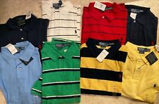 NWT Lot of 8 Men's Custom Fit Mesh Polo Ralph Lauren Shirts Size XXL