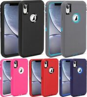 5x Protective Defender Shockproof Case Cover For Apple iPhone X / XS / XR XS Max