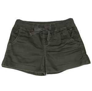 LN~JUSTICE GIRLS~Olive Green SHORTS~Size 14 S/ 14 Slim~Drawstring~Pockets~Cuffed