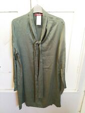 LADIES GREEN LONG SLEEVED MAXMARA DRESS SIZE 16 Brand New Without Tags