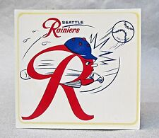 rare vintage 1950's  SEATTLE RAINIERS baseball water slide decal MINT scarce