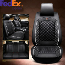 PU Leather Car Seat Cover Cushion Front + Rear Split Type Seat Cushion Full Set
