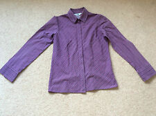 Ladies Purple Striped Long Sleeve Shirt Size 10