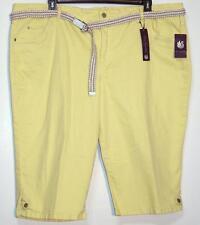 NWT Gloria Vanderbilt Skimmer Slimming Effect Stretch Capri Jeans 24W Yellow