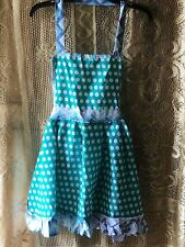 Apron with Polka Dots  Blue And White
