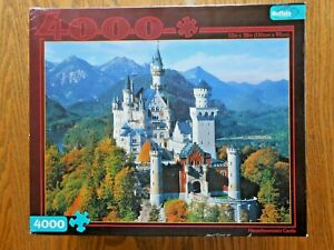 BRAND NEW Buffalo Games 4000 Piece Neuschwanstein Castle Jigsaw Puzzle 52x38