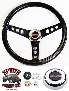 "1988-1994 Jimmy Suburban GMC pickup steering wheel 13 1/2"" CLASSIC BLACK"