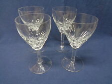 "Royal Leerdam Netherland 4 Cut Crystal Water Wine Goblets  7"" Rubato Clear"