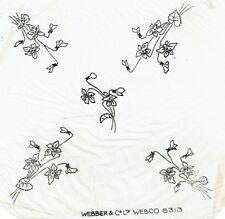 Vintage iron on embroidery transfer celandine flowers webco,webber & co 8313