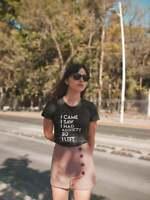 I Came I Saw I Had Anxiety So I Left T-shirt Funny Anxiety Shirt