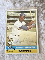 John Milner Autographed Auto 1976 O-Pee-Chee Card #517 New York Mets