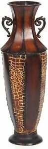 """Tall Iron Floor Vase Flower Ornament Decorative Home Office Foyer Fireplace 26"""""""