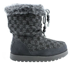 CUTE - NEW Size 6.5 Skechers Gray Snow Boots Womens Keepsakes Meadow Shoes