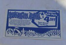 Vintage Whalom Amusement Park Fitchburg Mass $4 Off Coupon Discount Ride Pass NR